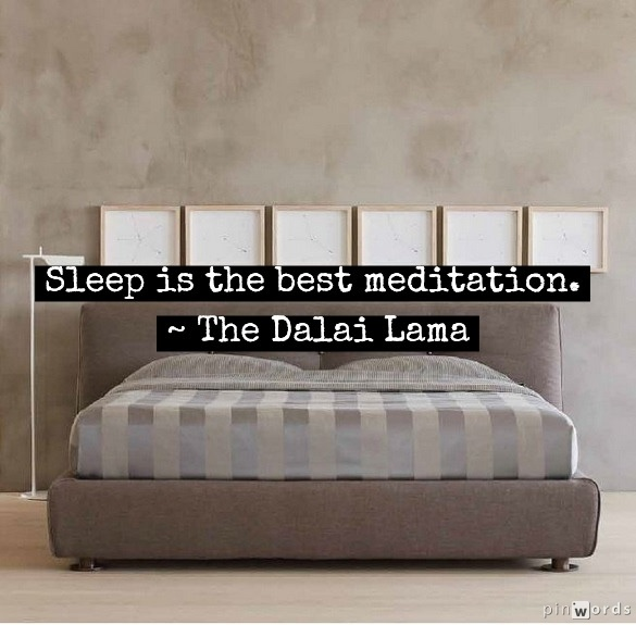 Sleep is the best meditation.  ~ The Dalai Lama #flou #bed #quote
