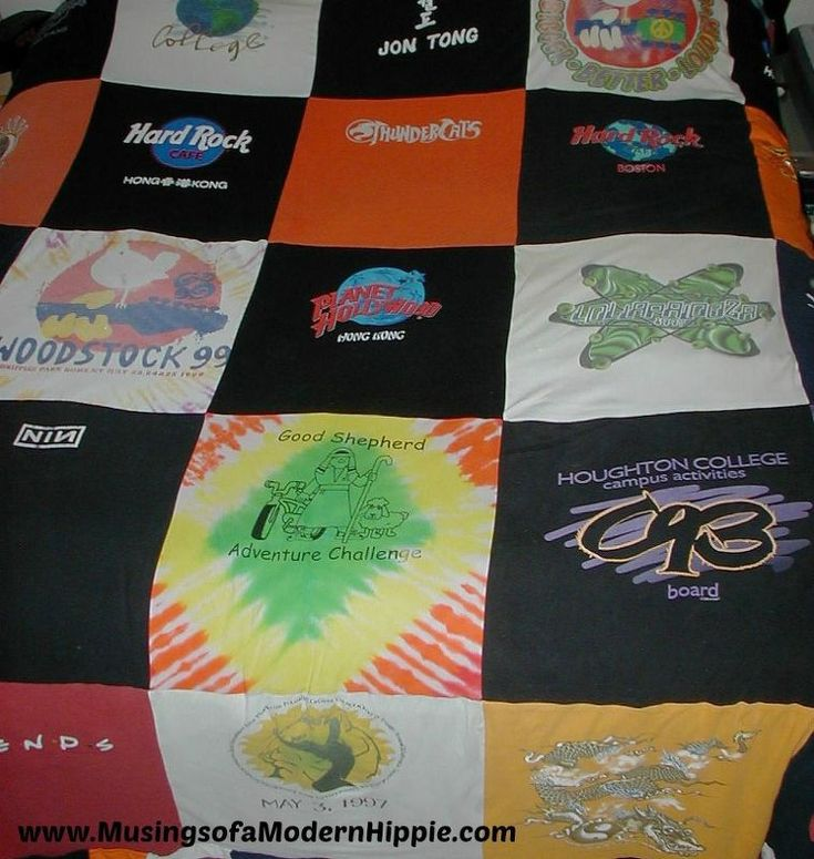 diy upcycled t shirt blanket, bedroom ideas, crafts, diy, home decor, how to, reupholster