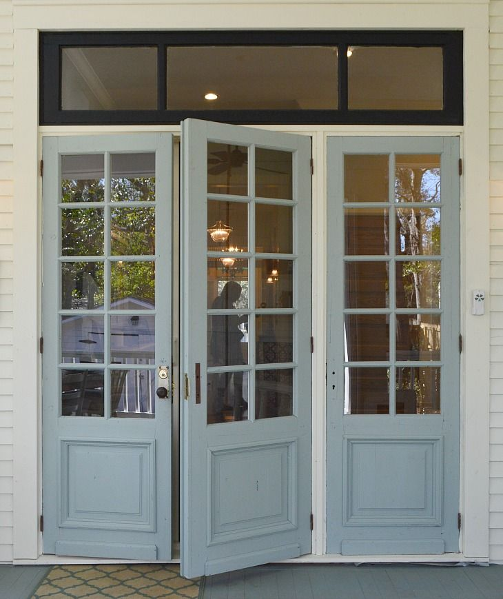 114 best images about doors porches on pinterest porch for Triple french doors exterior