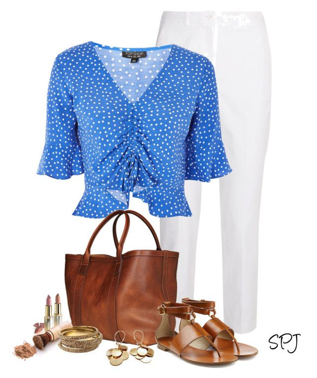 """""""Polka Dot Top"""" by s-p-j ❤ liked on Polyvore featuring Michael Kors, Topshop, Lotuff & Clegg, L'Oréal Paris and Amrita Singh"""
