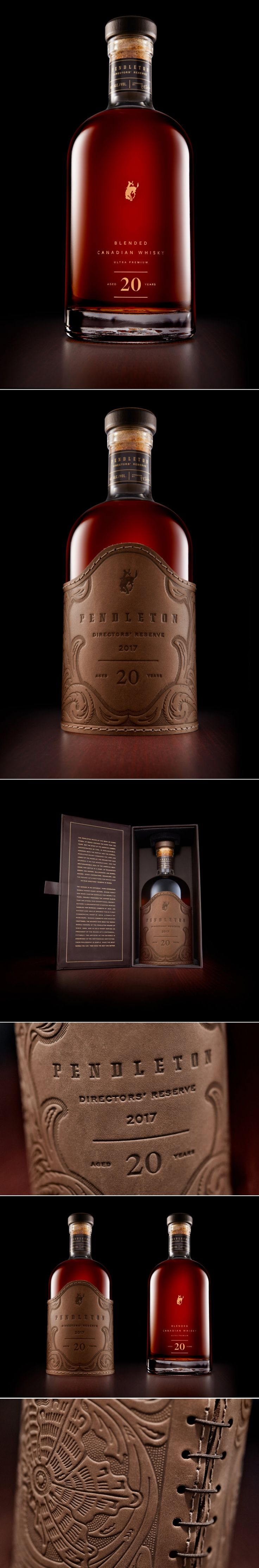 The Sophisticated Pendleton Directors' Reserve Canadian Whisky — The Dieline - Branding & Packaging Design