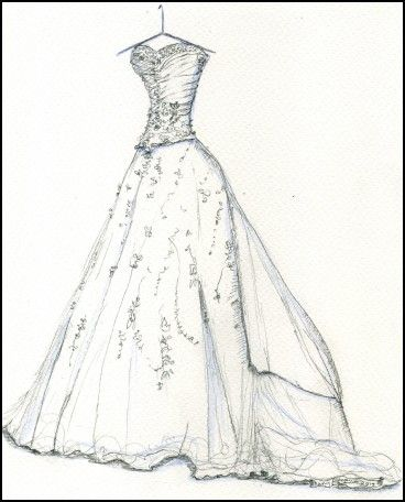 Simple Wedding Dress Sketches