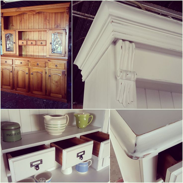 We were impressed when our lovely client Jane took on this aged pine buffet and hutch as her first painting project! Using Porter's Paints Chalk Emulsion in colours Dew and Lamb's Wool, Jane lightly sanded to distress the edges before sealing. A job more than well done and we enter this weekend truly inspired! Have a wonderful weekend
