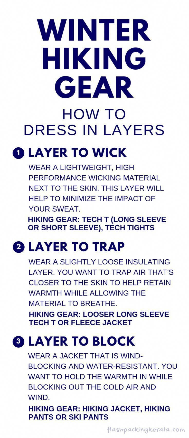 090ecee18548 Best winter hiking gear for how to dress in layers. What to wear hiking in  cold weather. base layer