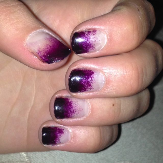 first attempt at ombré nails