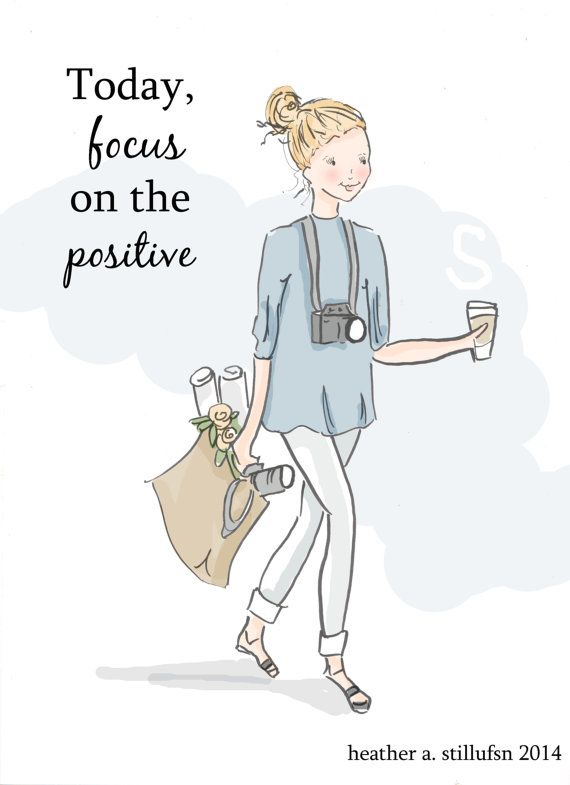 Focus on the Positive - Photography Illustration - Art for Women - Quotes for Women  - Art for Women - Inspirational Art