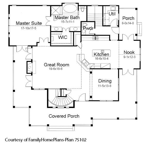 84 best images about house plans with porches on pinterest for Familyhomeplans 75137