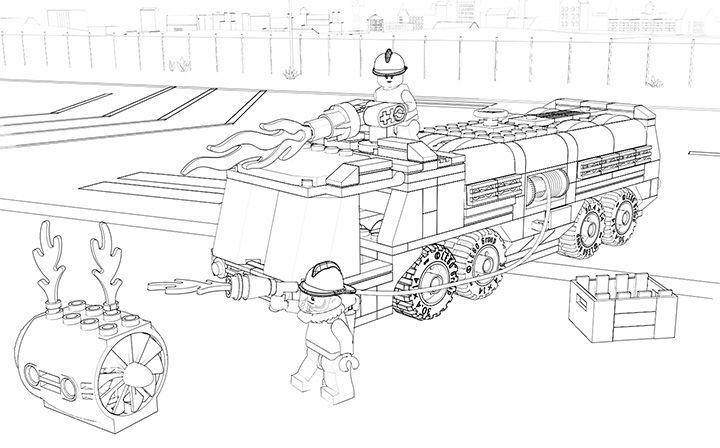60061 flughafenfeuerwehrfahrzeug  lego  ausmalbilder