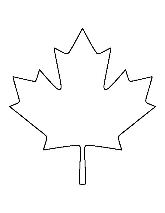 Canadian Maple Leaf pattern. Use the printable outline for crafts, creating stencils, scrapbooking, and more. Free PDF template to download and print at http://patternuniverse.com/download/canadian-maple-leaf-pattern/