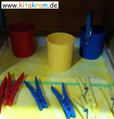 Aktionstabletts in Krippe, Kindergarten oder Hort