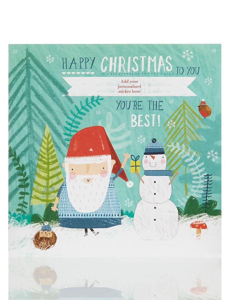 Happy Christmas Grandad Personalised Christmas Card