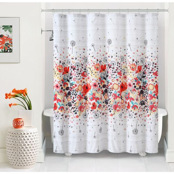 A fun and functional way to add a touch of whimsy charm any bathroom space, this floral pattern shower curtain instantly adds a stylish touch to any decor.
