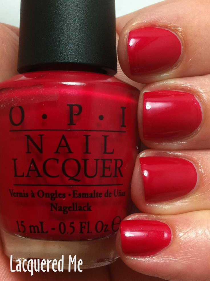 Lacquered Me: OPI Red