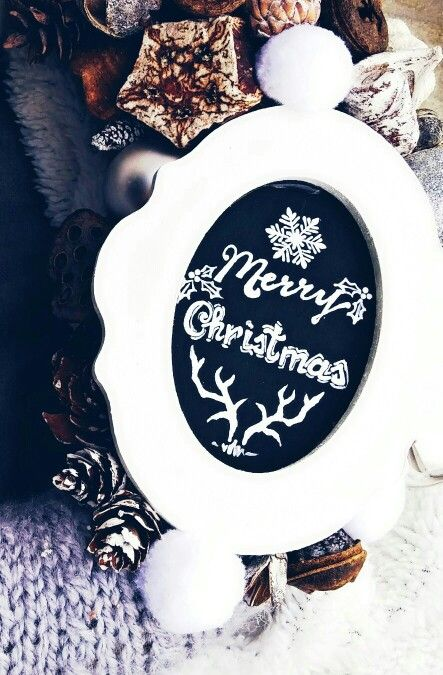 Merry christmas akril kép