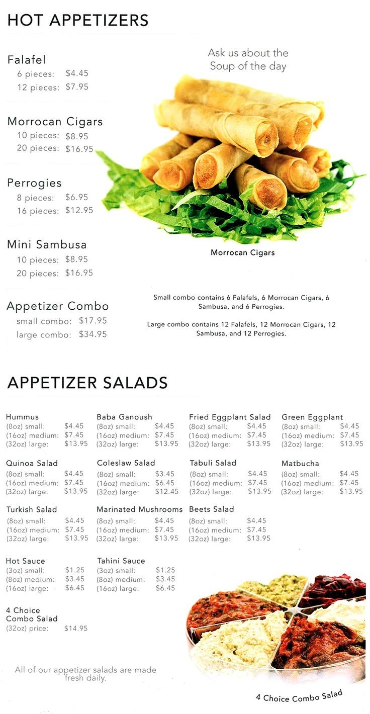 Me Va Me menu #1