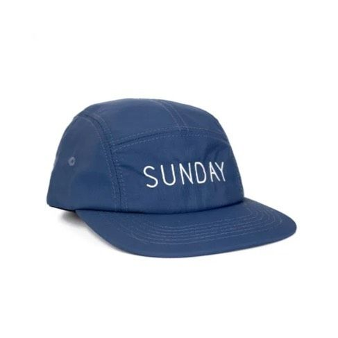 Custom Navy Blue Blue Nylon Five Panels for @sundaybeerco ! Branding Options Include: Front Flat Embroidery, Inner Woven Label, and Back Closure Tag. #streetwear #delusionmfg #headwear #hats #hat #manufacturing #hypebeast #branding #marketing #fivepanels #custom #apparel #threads #appareldesign