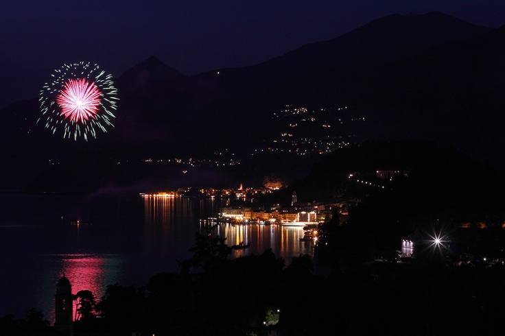 Fireworks on Lake Como