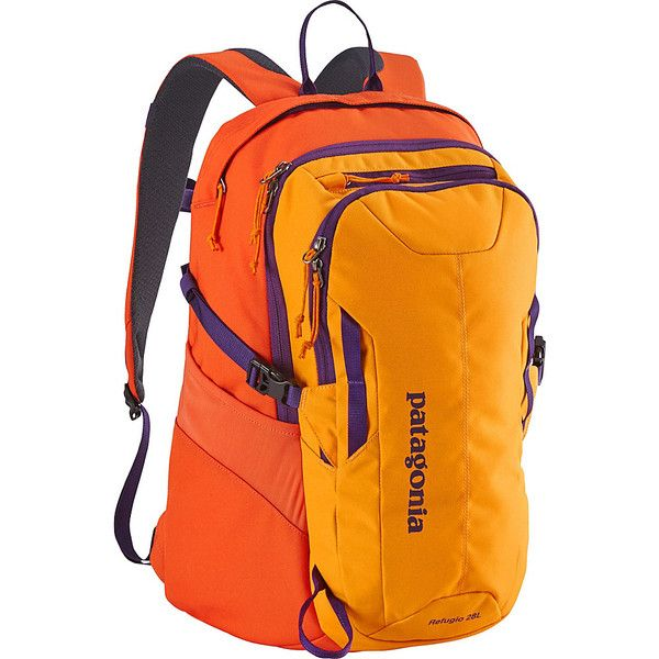 Patagonia Refugio Pack 28L - Sporty Orange/Campfire Orange - Laptop... ($89) ❤ liked on Polyvore featuring accessories, tech accessories, orange and patagonia