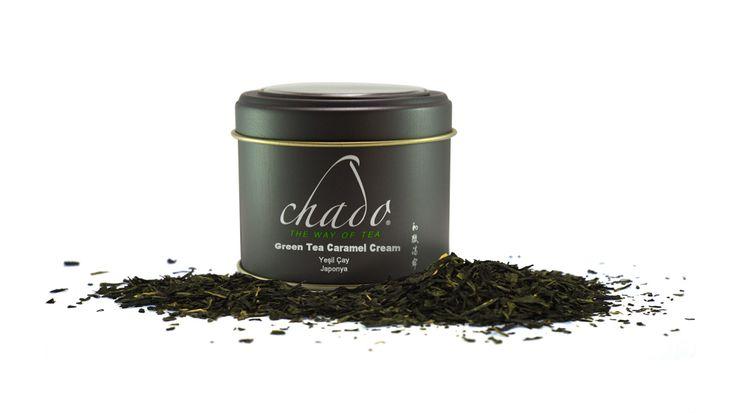 #greentea #caramel #chado #tea