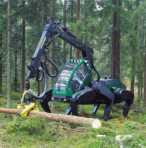 logging spider scary!: Machine Prototype, Walking, Tractors, Stuff, John Deere, Insect Esque Machine, Forest