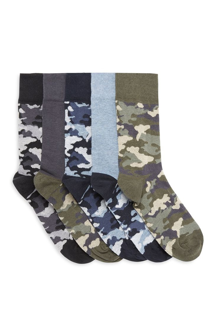 Socken mit Tarnmuster, 5er-Pack