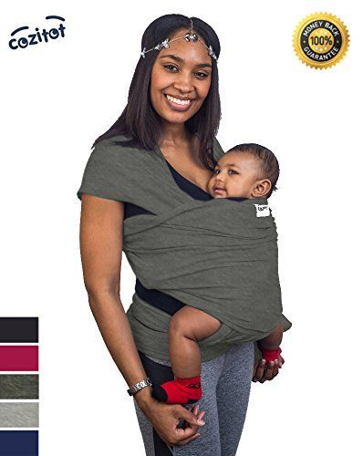 Slate Grey Baby Sling Carrier Wrap By Cozitot Soft Medium