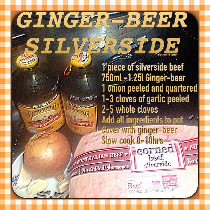Silverside corned beef slow cooker cooking easy kitchen hint and tips recipe gingerbeer ginger beer simple impress guests dinner time yum slowcooker crockpot life hack simple