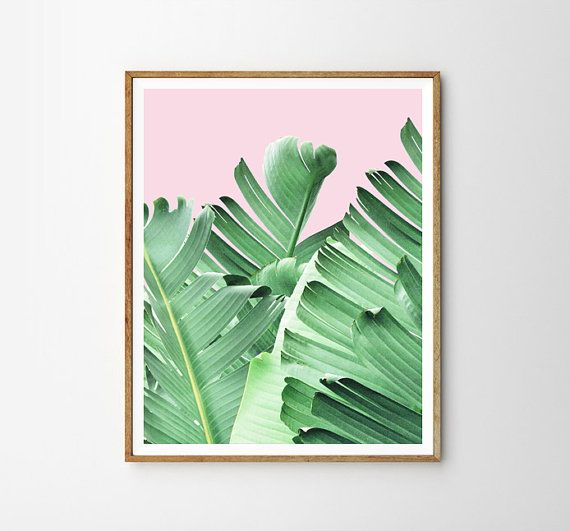 Tropical print, Plant print, Banana leaf, Tropical wall art, Wall decor, Digital art, Printable, Digital Instant Download 8x10, 11x14, 16x20