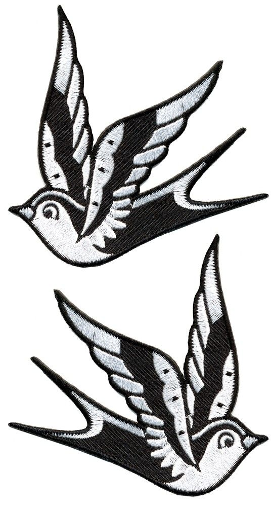 SOURPUSS SPARROW PATCHES WHITE - Patches - Novelties - Housewares