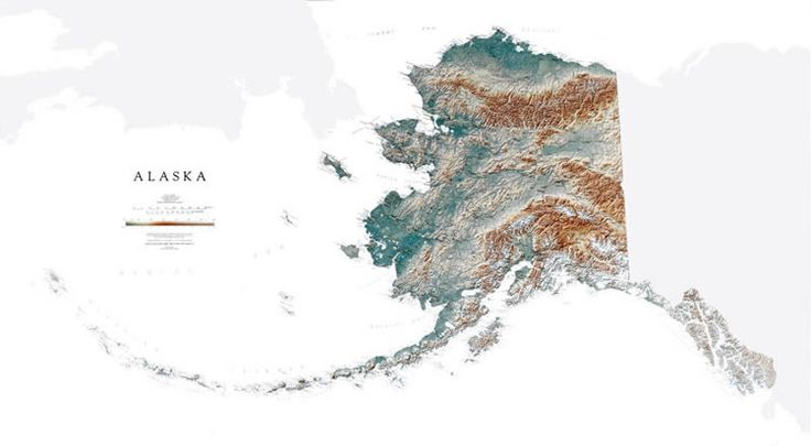 The Alaska State Map by Raven Maps.