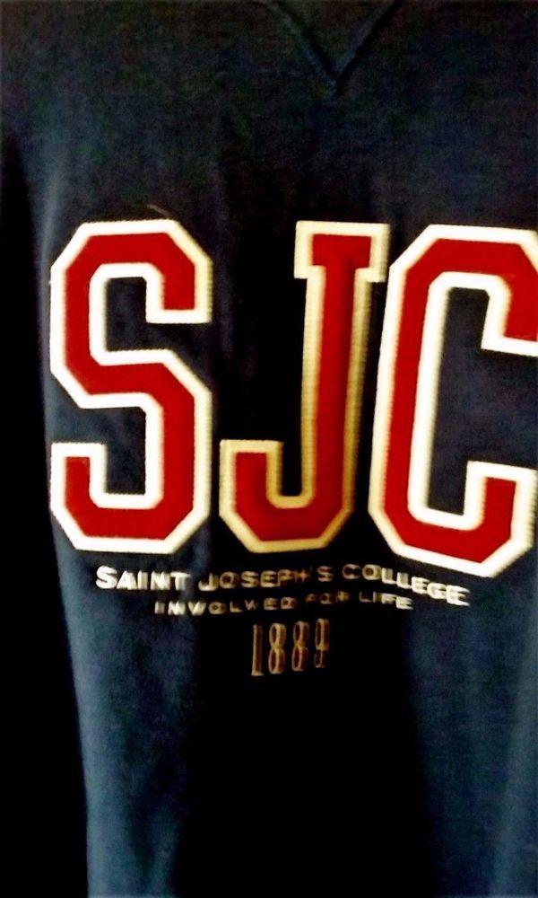 Sport Apparel Unix Saint Joseph College Embroiled Trademark Navy Blue Sweatshirt #GEARFORSPORTS #SweatshirtsFleeces
