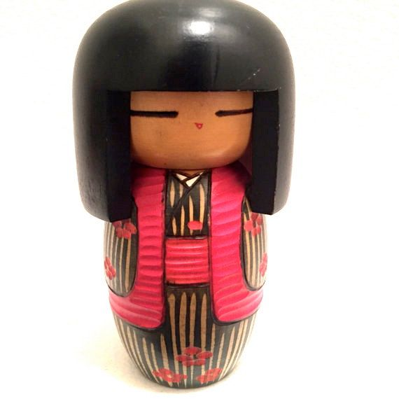 Kokeshi Doll by HippyHappyShop on Etsy