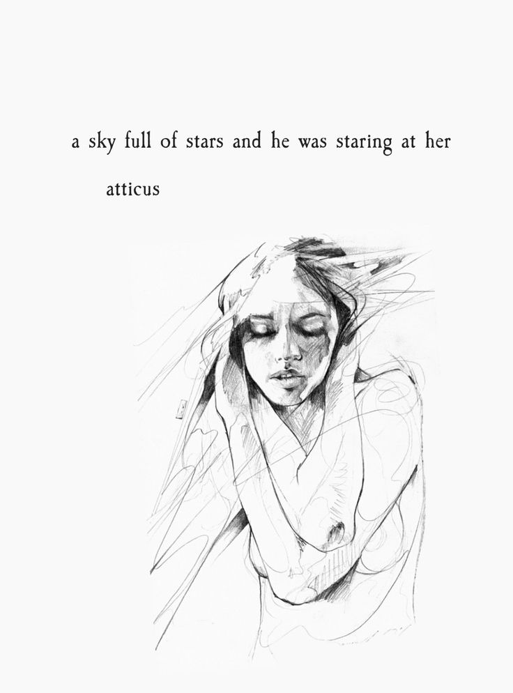 a sky full of stars and he was staring at her - atticus