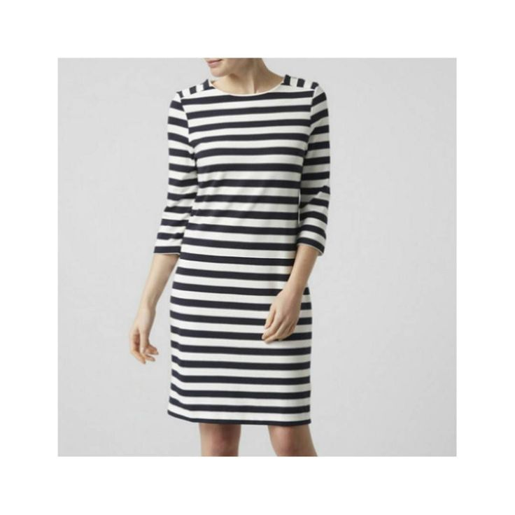 Style the Sasha Dress with sandals for an effortless look that will never date.  Buy online now #linkinbio  #summer17 #style #fashion #summer #nautical #dress #stripes