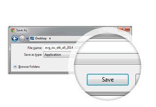 Installatie Driver Updater stap 1 dialoogvenster met knop opslaan