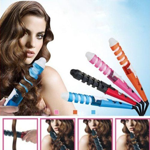 220 Voltage Spiral Curl Ceramic Curling Iron Dual Hair Curler by 24/7 store -- You can find more details by visiting the image link.