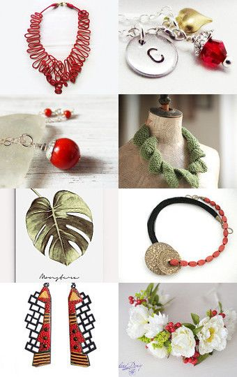105 - Strawberries in the Garden by Ilona on Etsy--Pinned+with+TreasuryPin.com