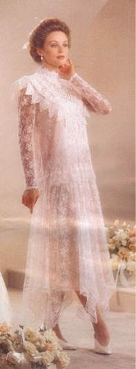 Old Jessica McClintock Wedding Dress - wish they would bring the vintage looks back!!!  This is my all time favorite!