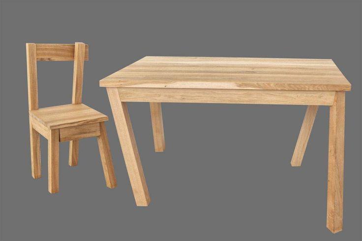 Unikatowe meble z drewna, stół i krzesło TAŃCZĄCY. Autor:Tomasz Tomaszewski