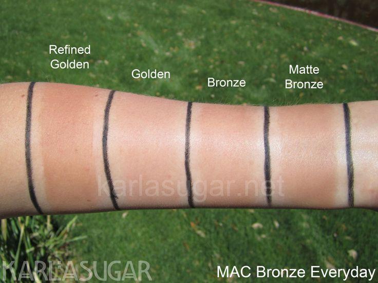 MAC, Bronze Everyday, swatches, Refined Golden, Golden, Bronze, Matte Bronze, KarlaSugar, Karla Sugar