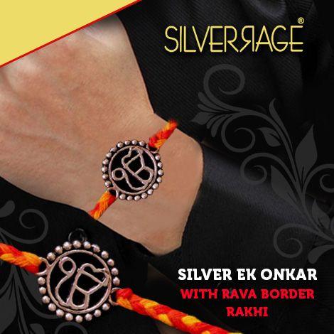 ek onkar silver rakhi by silverrage