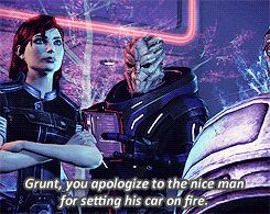 my gif mass effect Grunt commander shepard shepard Citadel DLC no mom is not bailing you out of this one