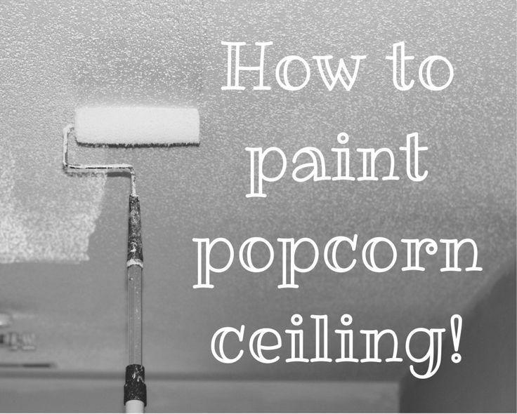 How to paint popcorn ceiling - www.refashionablylate.com