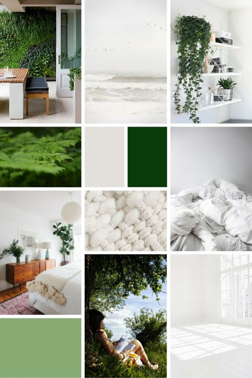Midweek Moodboard: Fresh February (green & white tones for Spring branding and colour palette inspiration!)