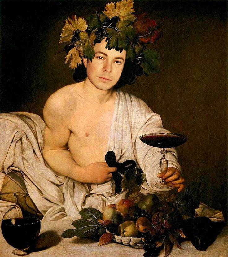"Caravaggio's ""Bacco"" with Andrei Telfer. I kept the original torseo here."