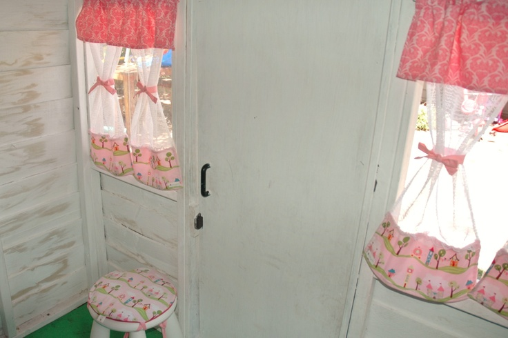 Girls Princess Lace Cubby / Play House Room curtain window decor set. $90.00, via Etsy.