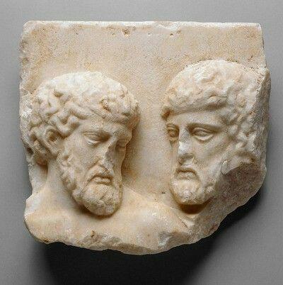 RELIEF: FRAGMENT VOM NORDFRIES DES PARTHENON, ALTE MÄNNER Griechisch, Attisch 442 - 438 v. Chr.