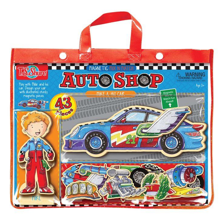 Auto Shop Mike & His Car Magnetic Action Heroes