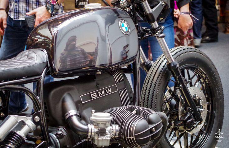 """two-gun-salute: """"⚡️ BMW boxer custom / brat style bobber / Bike Shed London 2016 / Two Gun Salute ⚡️ """""""