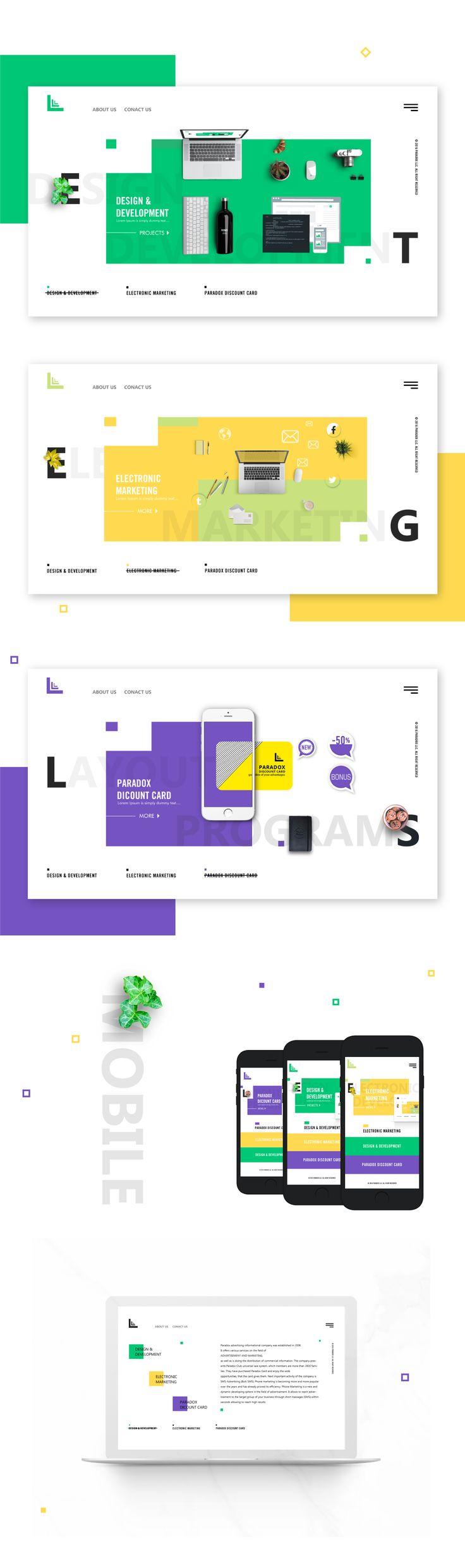 PARADOX WEB DESIGN on Behance